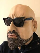 Realistic Hard Man Male Latex Mask Bouncer Halloween Fancy Dress Goatee Beard