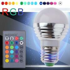 3W E27 led RGB Bulb Light Lamp 16 Color Changing with Wireless Remote Control DC