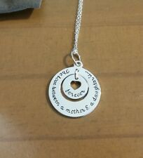 NIB Avon Sterling Silver Unconditional Love Necklace Daughter
