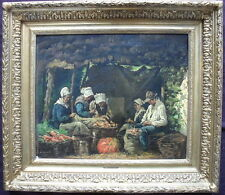 Georges jean marie haquette (1854-1906) french oil painting