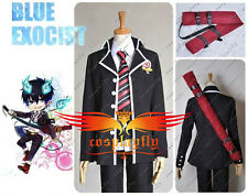 Ao no Blue Exorcist Rin Okumura Cosplay Custom Costume+Prop Bag (Sword Sleeve)