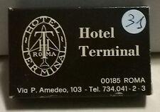 SAPONETTA HOTEL TERMINAL - ROMA - RETTANGOLARE - CONFEZIONATA IN SCATOLA - N. 31