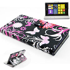 Printed Stand PU Leather Wallet Slots Cover Flip Pouch Case For Nokia Cellphones