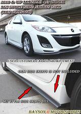 MS-Style Aero Side Sills Skirts (ABS) Fits 10-13 Mazda 3 4/5dr