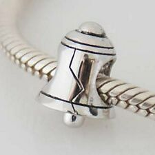 BELL - Christmas - Wedding - Solid 925 sterling silver European charm bead