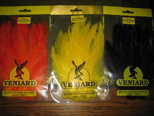 3 packets Veniard Premium Grade Schlappen Hackles for Salmon & Saltwater Flies