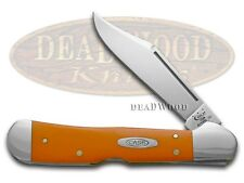 CASE XX High-visibility Orange Delrin Copperlock Stainless Pocket Knife Knives