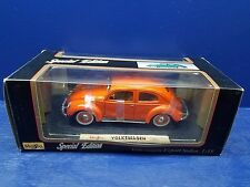 Maisto 1951 Volkswagen Beetle Orange Split Window 1:18 Die-Cast  Car Ages 17+