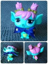 Littlest Pet Shop Sparkle Glitter Tulip Fairy Blue Green #2610 Fée brillant Bow