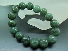 Authentic Natural Grade A Jade (jadeite) Smooth Green Bead Bracelet