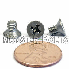 M4 x 6mm - Qty 10 - Stainless Steel DIN 965 Phillips FLAT HEAD Machine Screws A2