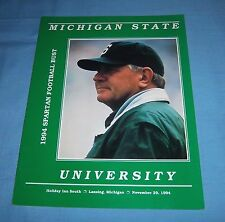 Michigan State Spartans Football Banquet Bust Program 1994 George Perles