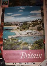 Britain Torquay South Devon Travel Poster Tourism 1958 original vintage