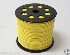 Wholesale Price 3mm yellow Suede Leather String Jewelry Making Thread Cords 5yd