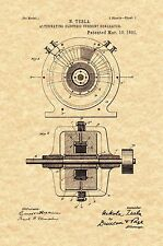 Patent Print - Nikola Tesla A. C. Current Generator 1891. Ready To Be Framed!