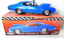 Welly 1:18 1970 Chevelle Pro Street Extreme Street Muscle Blue 70 Diecast Car