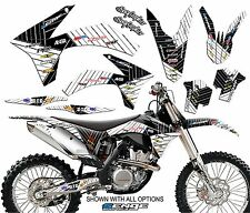 2004 KTM EXC 200 250 300 450 525 GRAPHICS KIT DECO DECALS STICKERS SENGE MOTO