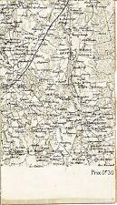 Servas St-Nizier Dompierre 1889 carte état-major sur toile orig. Lent St-André