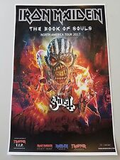 Iron Maiden advert promo book of souls 11x17 poster Ghosts concert tour