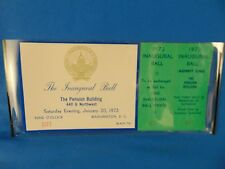 Inaugural Ball ticket Richard M Nixon The Pension Bldg. January 20 1973 #3077