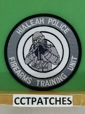 HIALEAH, FLORIDA POLICE FIREARMS TRAINING UNIT SUBDUED SHOULDER PATCH FL