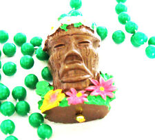 Tiki Head Luau Mardi Gras Bead Necklace Buffett Summer Beach Fun  A5