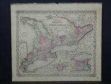 Colton's Maps, 1855, Authentic #06 Canada West or Upper Canada