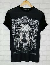 MENS TOPMAN BLACK TUTANKHAMUN EGYPTIAN TSHIRT TOP SHIRT UK XXS