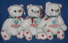 TY SPECIAL OLYMPICS COURAGEOUS SET of 3 - MINT with MINT TAGS