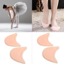 Soft Silicone Gel Pointe Toe  Pads Cap Protectors for Ballet Dance Shoes Nude S