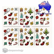Christmas Limited Edition Special  (Lot x 4) Nail Art Water Transfer Decal