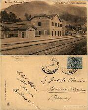Pieve-Calalzo, belluno, stazione della ferrovia belluno-cadore, 1915