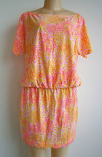 $168.00 New Lilly Pulitzer Daisy Sinched Waist Sundress Sz L