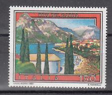 ITALIA  VARIETA' L. 150 RIVA DEL GARDA  MNH** STAMPA SPOSTATA IN ALTO VEDI FOTO