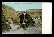 Morocco ethnic Tipo de la Kabila de Raisuli native outside hut vintage 1910 PPC