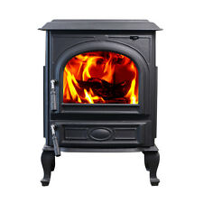 HiFlame 18.5KW Freestanding Cast Iron Wood Stove HF717UA Paint Black