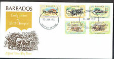 Barbados 1981 Early transport set on FDC