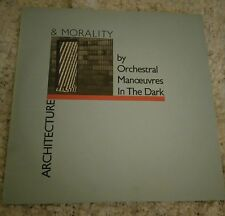 OMD ARCHITECTURE + MORALITY LP 1981 WITH INNER SLEEVE + PALE BLUE DIE CUT COVER