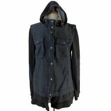 Free People Military Inspired Cargo Hoodie Jacket Large $168 FTC #4496