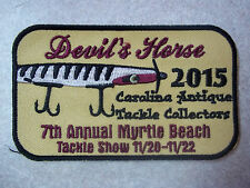 """Devil's Horse 2015 Fishing Lure Tackle Collectors Patch Myrtle Beach 2-3/8 x 4"""""""