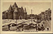 Amsterdam Niederlande Nederland ~1910 Nieuwmarket met de Waag Marktplatz Markt