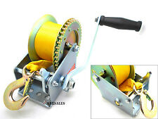 New Nylon Strap Hand Winch Hand Crank 1000lb Heavy Duty Winch ATV Trailer Boat