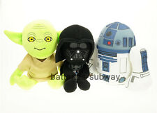 Lot 3pcs New Star Wars R2D2 Yoda Darth Vader Soft Stuffed Plush Doll Toy Figure