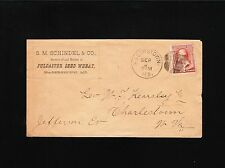 S Schindel Grower Dealer Fulcaster Seed Wheat Hagerstown MD 1886 Cover 1z