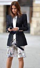BALMAIN en satin noir découpé laine veste de smoking fr 40 uk 10