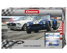 CARRERA 25201 FAST CLASSICS SHELBY COBRA MUSTANG EVOLUTION 1/32 SLOT CAR SET