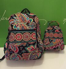 NWT Vera Bradley Large Campus Backpack & Lunch Bunch Parisian Paisley