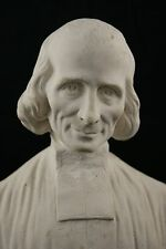 † SAINT JOHN MARY BAPTIST VIANNEY THE CURE OF ARS CHALKWARE STATUE FRANCE 19TH †
