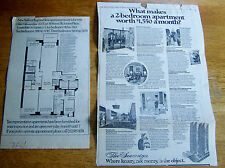 VINTAGE NEWSPAPER CLIPPINGS RELATING TO THE SOVEREIGN APTS. IN N.Y.C. (4321)