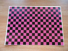 Checker Sheet - Black + Pink - Sticker bomb - A4 size